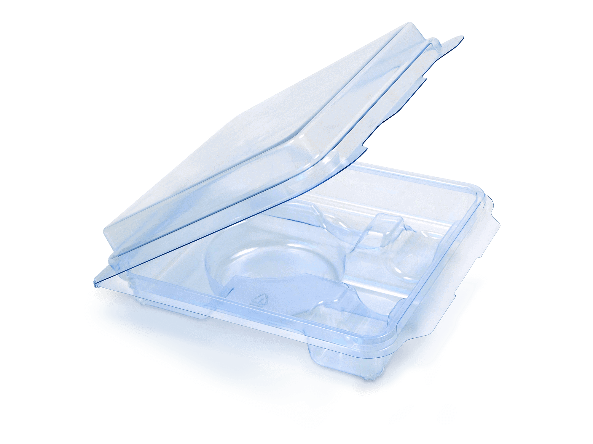 Blue PETG Clamshell Packaging Page