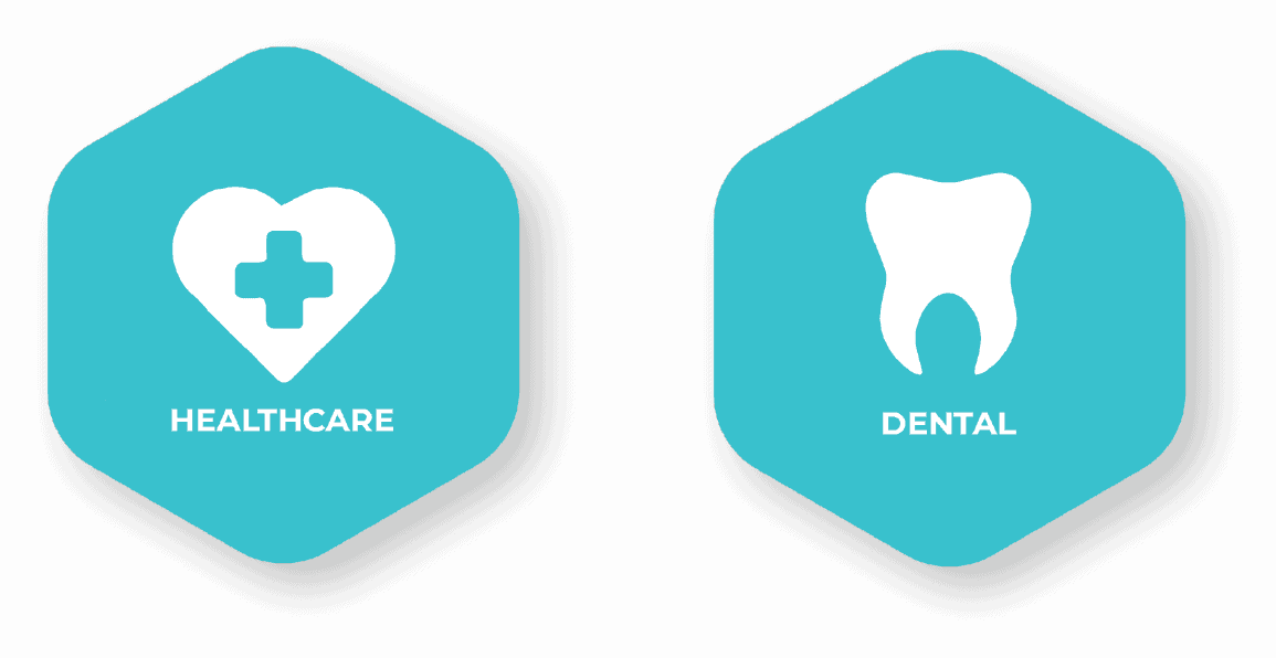 Blue Medical and Dental Mobile Icon