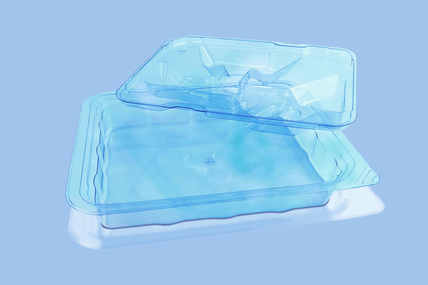 Blue PETG Medical Device Tray