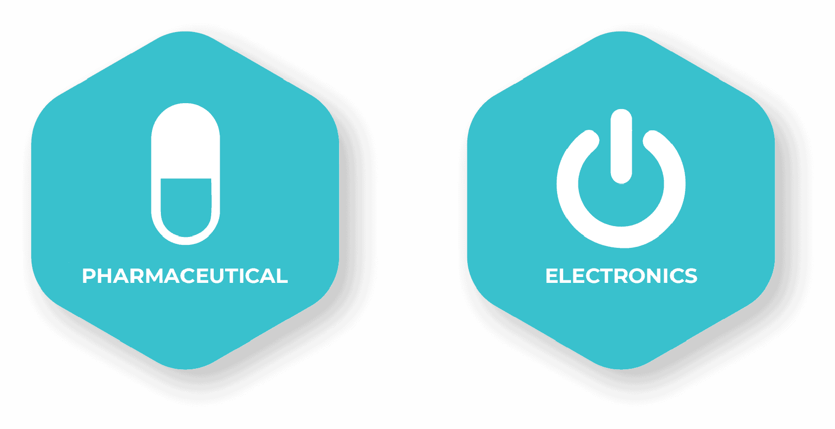Blue Pharmaceutical and Electronics Mobile Icon