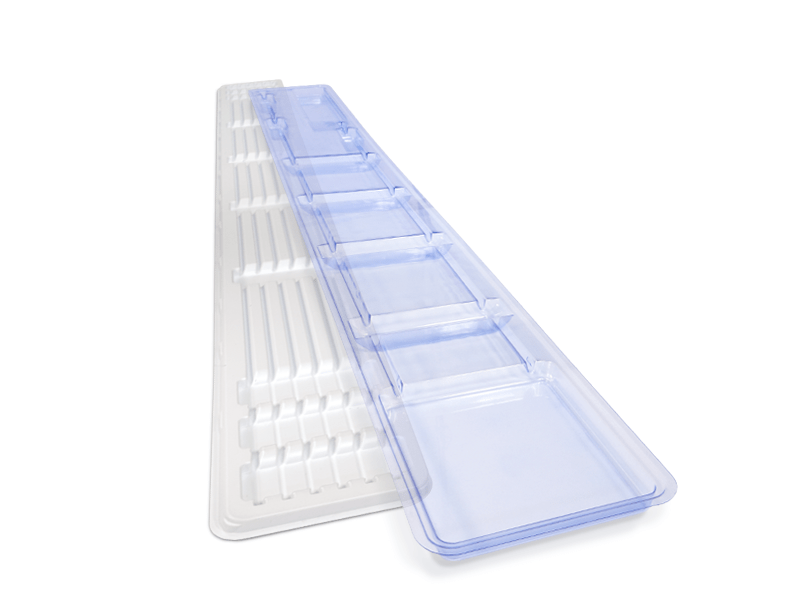 Blue PETG and HIIPS Catheter Tray