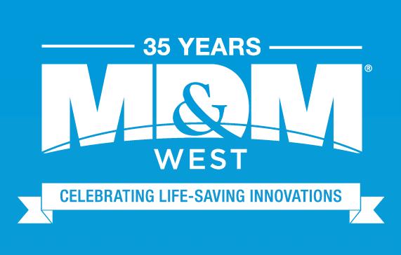 MD&M West 35 Year Logo