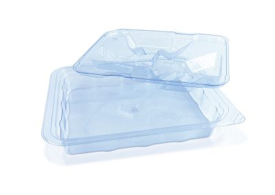 Blue PETG Medical Device Tray with Insert