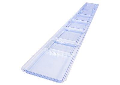 Blue PETG Long Medical Catheter Tray