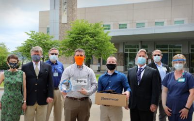 Brentwood Donates 5,000 Face Shields to Penn State Health St. Joseph