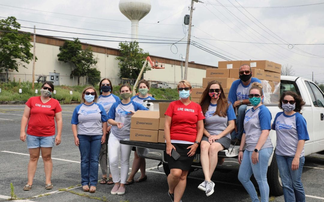 Brentwood Donates 14,000 Face Shields to Healthcare and Essential Workers